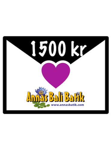 Gift certificate, 1500 SEK