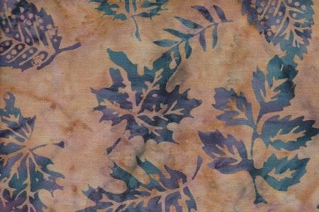 Brown melange with dark blue leaves