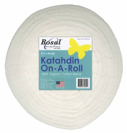 Katahdin On-A-Roll. 2 1/4 x 50 yard, 100% cotton, from Bosal