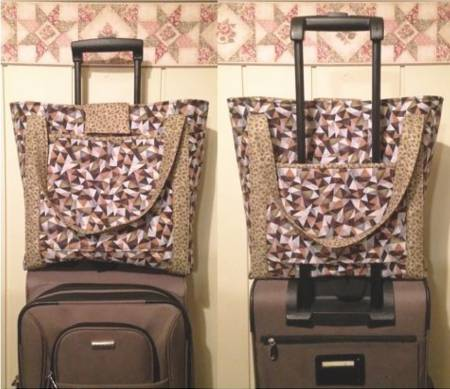 Luggage rides Carry-on-Bag. Pattern from Cut Loose Press