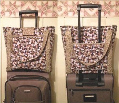 Luggage rider Carry-on-Bag. Mönster från Cut Loose Press