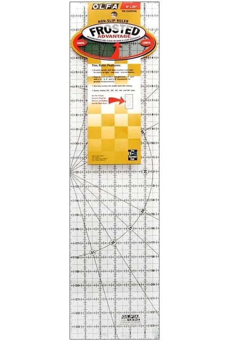 Non-slip Ruler, 6*24 inch. OLFA