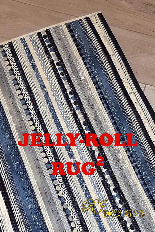 Jelly-Roll Rug 2. Pattern from RJ Designs