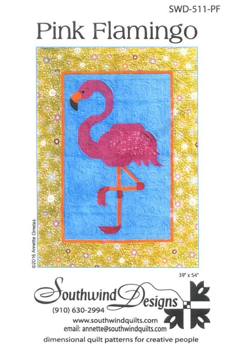 Pink Flamingo. Mönster från Southwind Designs