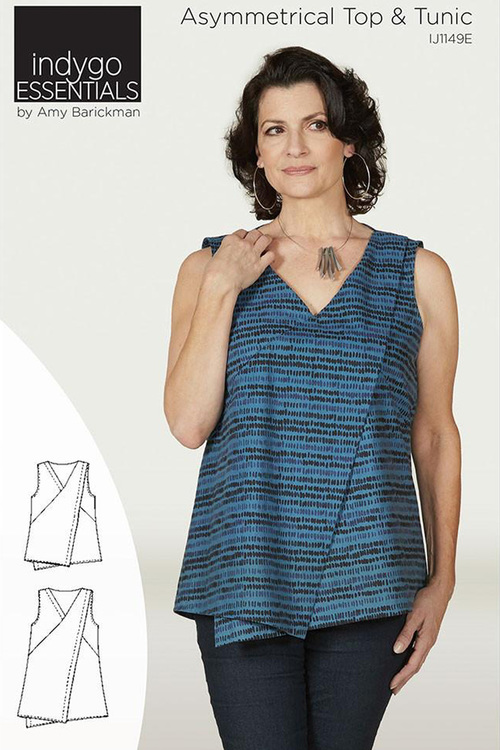 Asymmetrical Top &cTunic. Clothing pattern from Indygo Essentials