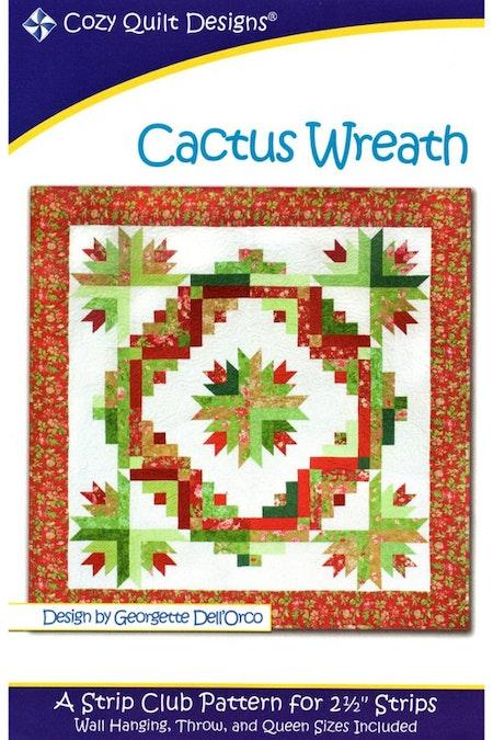 """Mönster """"Cactus Wreath"""" från Cozy Quilt Designs"""