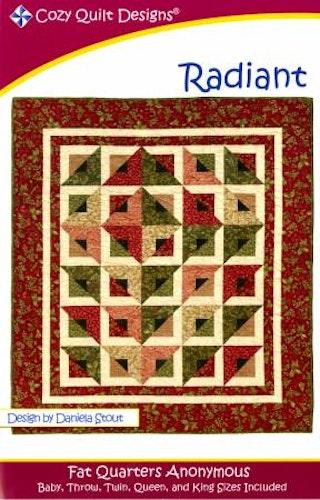 """Mönster """"Radiant"""" från Cozy Quilt Designs"""