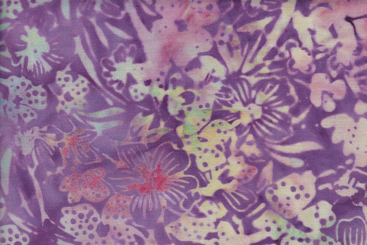 Purple and light yellow. Viscose 130 cm wide