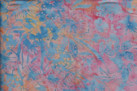 Multicolor with blue print. Viscose 130 cm wide