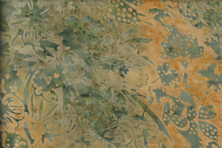 Green on green-beige. Viscose 130 cm wide