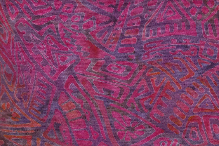 Pink with purple print. Viscose 130 cm wide