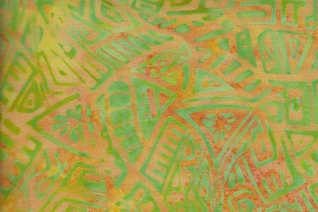 Green and beige. Viscose 130 cm wide