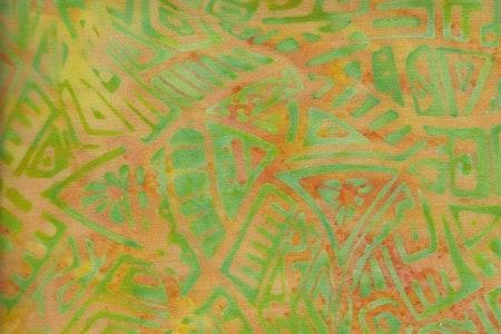 "Batik Trikå gul och grön ""Modern Galaxie"""