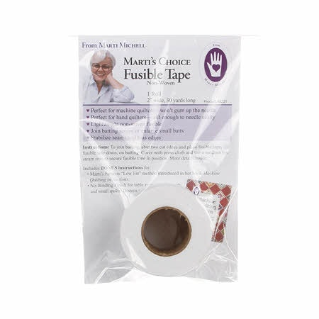 """Fusible Tape, 2"""" bred & 30 yard lång, Marti Michell"""