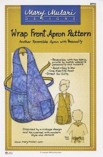 Wrap Front Apron Pattern. Mönster på förkläde