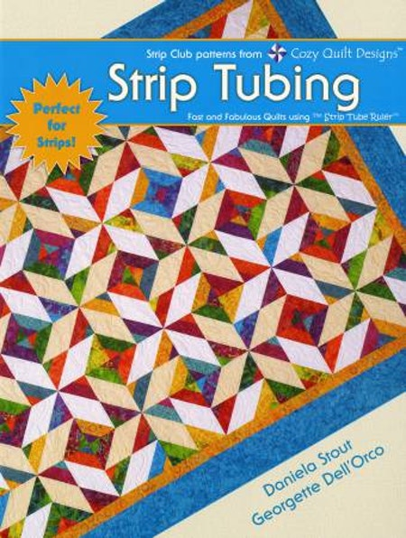 "Mönsterbok ""Strip Tubing"" från Cozy Quilt Designs"