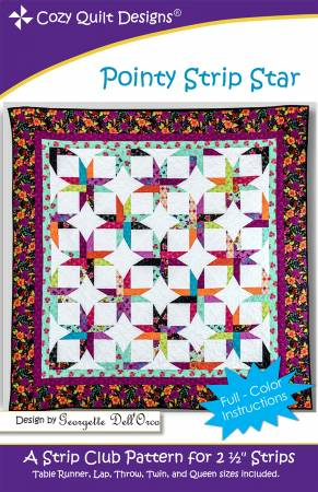"Mönster ""Pointy Strip Star"" från Cozy Quilt Designs"