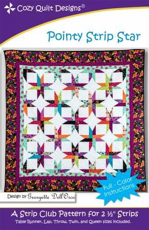 "Mönster ""Pointy Strip Star"" från Cozy Quilt Designs"