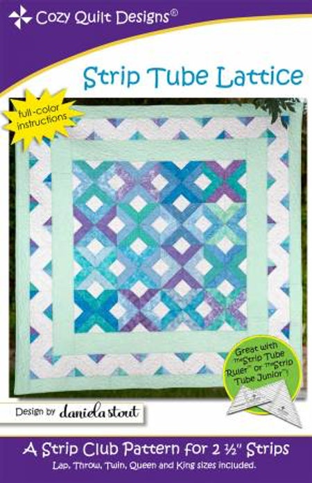 "Mönster ""Strip Tube Lattice"" från Cozy Quilt Designs"