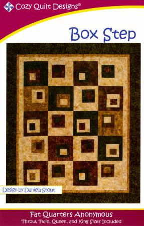 """Mönster """"Box Step"""" från Cozy Quilt Designs"""