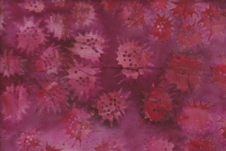 Röd-cerise-mörkröd. Viskos. 130 cm bred