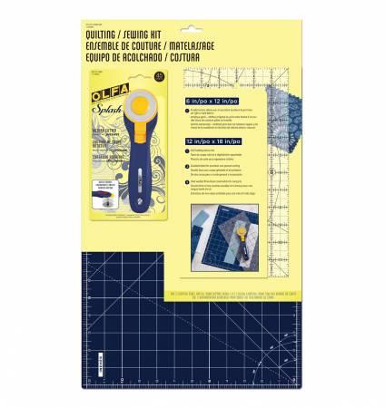 Quilt-kit med matta, linjal & skärkniv från OLFA