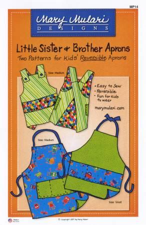 Little Sister & Brother Apron Pattern. Mönster på förkläde till barn