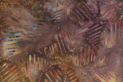 Brunbeige med multicolored streck och prickmönster