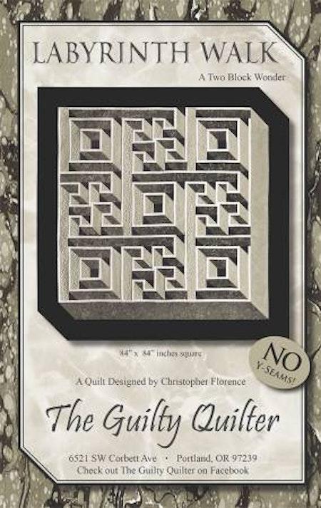 "Mönster ""Labyrinth Walk"" från The Guilty Quilter"