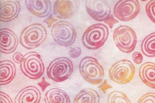 Flashigt ljusa pasteller med spiralmönster