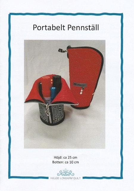 """Mönster """"Portabelt Pennställ""""  av Hauge Longarm Quilt"""