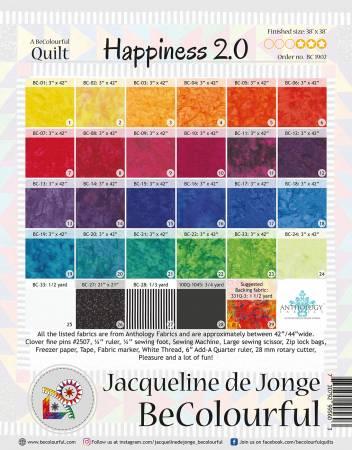 Happiness 2.0. Mönster av Jacqueline de Jonge