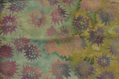 """""""Freaky Flower"""" i nya mustiga färger. Trikåtyg i 100% bomull"""