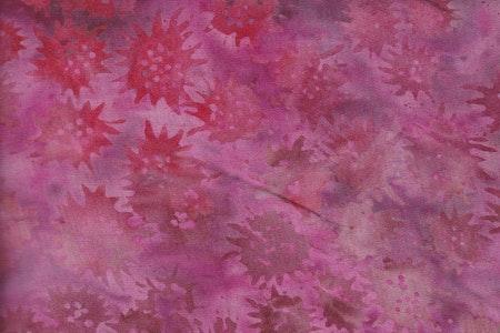 """Trikåtyg """"Freaky Flower"""" i röd-beigea färger.  100% bomullstrikå"""
