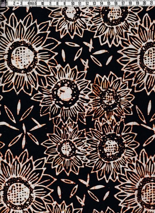 Fantastiskt batiktyg underbara bruna färger. Från Bali givetvis