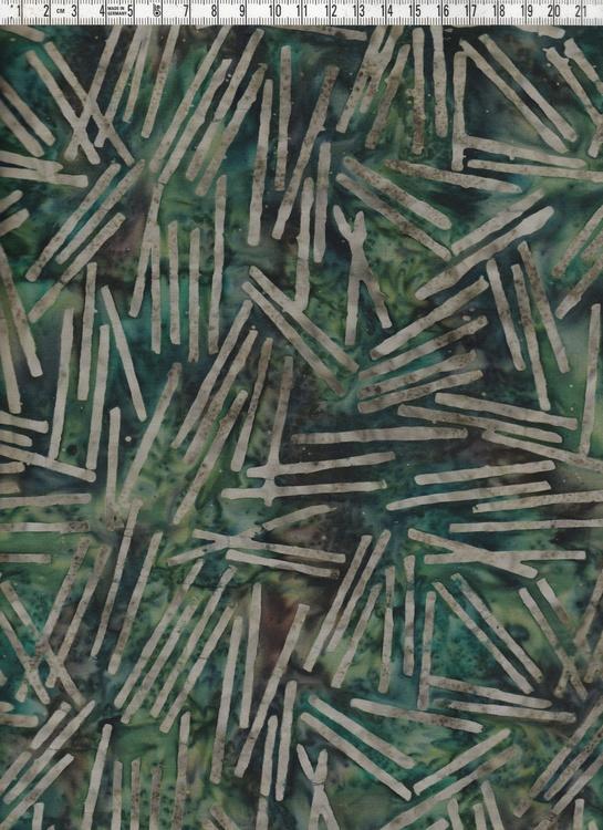 Streckmönster i beige och grönbrun bakgrund. Bomull