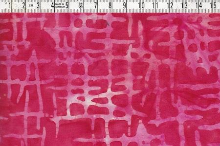 """Röd-ljusröda-rosa färger. Ett av tygerna i vår batikrulle """"Flamingo"""""""