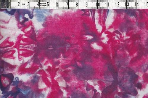 En explosion av färger. Melerat batiktyg i bomull