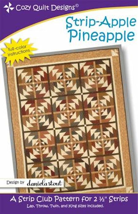 "Mönster ""Strip-Apple Pineapple"" från Cozy Quilt Designs"
