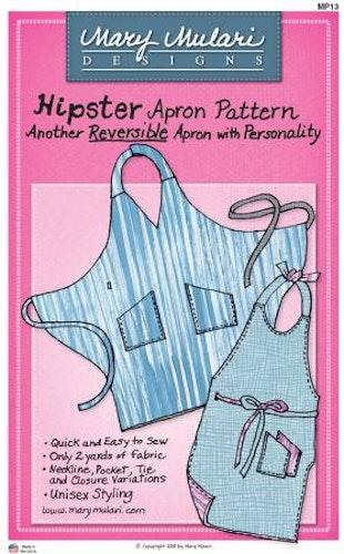 Hipster Apron Pattern. Mönster på förkläde