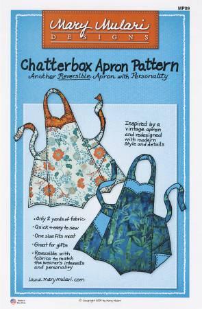 Chatterbox Apron Pattern. Mönster på förkläde