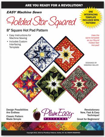 "Mönster & mall ""Folded Star Squared"" Plum Easy Patterns"