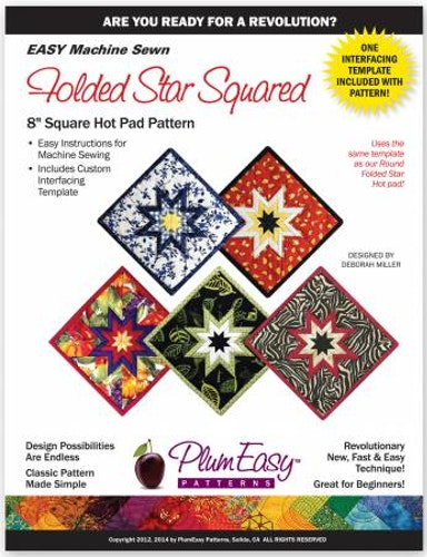 """Mönster & mall """"Folded Star Squared"""" Plum Easy Patterns"""