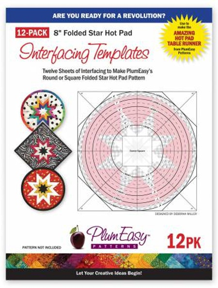 "Mallar till ""Folded Star Squared"" Plum Easy Patterns. 12 st"