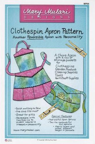 Clothespin Apron Pattern. Mönster på förkläde