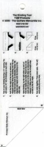 The Binding Tool, hjälpmedel att sy ihop ytterkantens start & slut