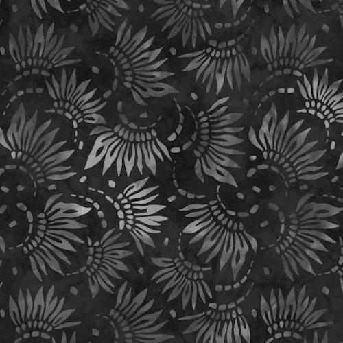 Ej Batik! Extra bred mörkgrå, bomull, 275 cm bred. Wilmington Prints