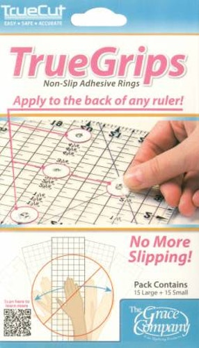 True Grips för linjaler, 15 små cirklar & 15 ringar