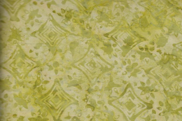 Limegrönt viskostyg med små gröna mönster.