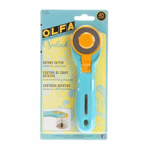 Skärkniv 45 mm Splash i turkos. OLFA-kvalitet